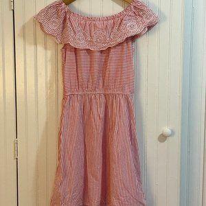 Gap Kids Pink/White Striped Sundress XL (12)